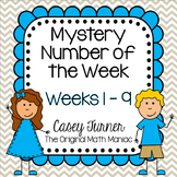 Mystery Number of the Week Set 1 in Color