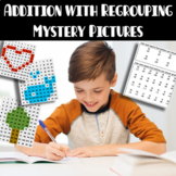 Mystery Picture:  Addition with Regrouping hundreds charts to 120