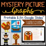 Thanksgiving Math Activities - Mystery Picture Graphs