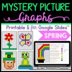 Mystery Picture Graphs - Spring/St. Patrick's Day Pack