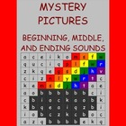 Mystery Pictures for beginning , middle, and ending sounds