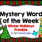 Mystery Word of the Week to Boost Vocabulary Holiday Freebie