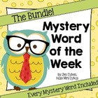 Mystery Word of the Week All Year, Melonheadz & Detective Theme