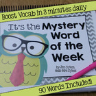 Mystery Word of the Week All Year, Superhero &amp; Pirate Theme