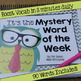 Mystery Word of the Week All Year, Superhero & Pirate Theme