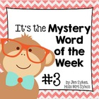 Mystery Word of the Week, Boost Vocabulary, Set #3, Cowboys