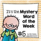 Mystery Word of the Week, Boost Vocabulary, Set #5, Aloha Cats