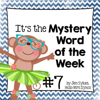 Mystery Word of the Week, Boost Vocabulary, Set #7, Under the Sea