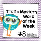 Mystery Word of the Week, Boost Vocabulary, Set #8, Superhero
