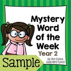 Mystery Word of the Week Freebie to Boost Vocabulary Year 2