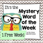 Mystery Word of the Week Freebie to Boost Vocabulary Word Work