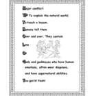 Mythology Characteristics Mini-Poster