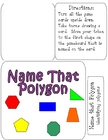 NAME THAT POLYGON Math File Folder Game - Identifying polygons
