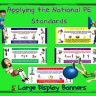 NASPE Standards Display Banners: 6 Large Banners for PE