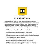NATIVE AMERICANS WORKSHEETS / HANDOUTS