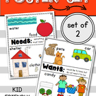 NEEDS and WANTS Posters: Social Studies (Kindergarten &amp; Fi