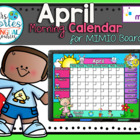 NEW!! MIMIO Calendar Math- April (English)