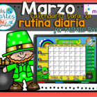 NEW!! MIMIO Calendar Math- March (Spanish)