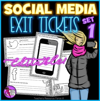 Social Media Exit Tickets - Twitter, Facebook, Texting!