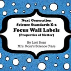 NGSS Science Focus Wall Labels (K-2) Freebie