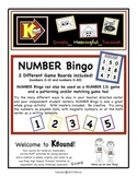 NUMBER Bingo, Number I.D., Patterning, Matching and Counti