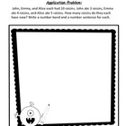 NYS Common Core Math Module 2 Application Problems 1st Grade