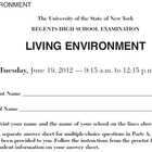 NYS Living Environment Regents June 2012  ExamView Test Bank
