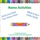 Name Activities: Build and Write Your Name Mats and What&#039;s
