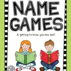 Name Games {Getting to know you mini unit|}