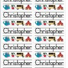 Name Labels Type Names in Schoolhouse Font-Multipurpose Set 2