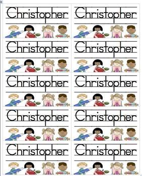 Name Labels Type in Schoolhouse Font-Multipurpose Set 3