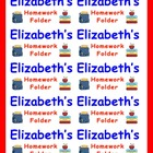 Name Labels for Homework Folders-Type Names-Comic Sans Font