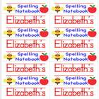 Name Labels for Spelling Notebooks Schoolhouse Font - Type Names