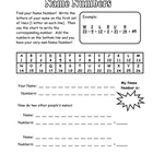 Name Numbers Printable - Fun Activity to Combine Words and Math