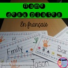 Name Plate for Students&#039; Desks - French