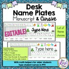 Name Plates  EDITABLE PowerPoint & PDF with Math Helpers Upper Grade Students
