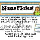 Name Plates - Monkey Business Theme