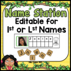 Name Recognition Literacy Center & Letter Tiles - EDITABLE