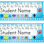 Desk Name Tags 8.5x14 (Multicolor & Editable)