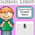 Name Tags {Bright Polka Dots and Stripes}