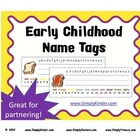 Name Tags or Name Plates - Early Childhood