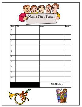 Name That Tune Music Activity Worksheet