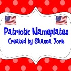 Nameplates with a Patriotic Theme