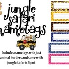 Nametags for a Jungle/ Safari Classroom
