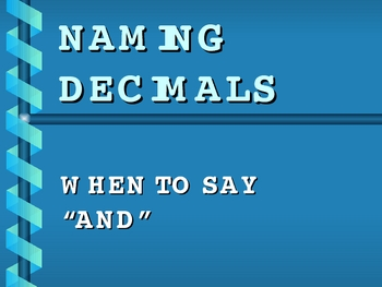 Naming/Reading Decimals