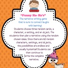 Narrative Writing Plan Game Perfect for small group, cente