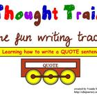 Narrative Writing with the Thought Train - Lesson 4