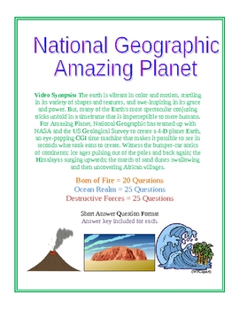 National Geographic: Amazing Planet Series Video Questions