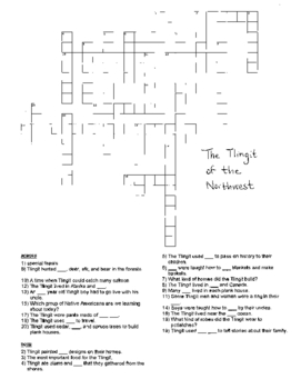 Native American CrossWord Puzzles