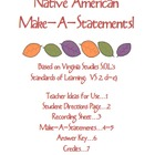 Native American Make-A-Statements, Virginia Studies